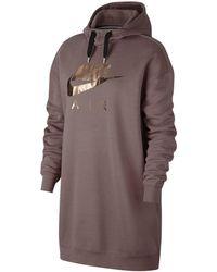 Nike - Sportswear Metallic-Hoodie für Damen - Lyst