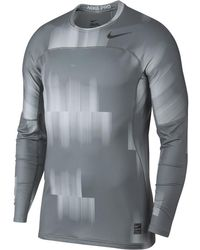 4758f416 Nike - Pro Hyperwarm Men's Long Sleeve Training Top - Lyst