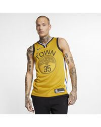 Nike Kevin Durant Golden State Warriors Earned Edition Swingman Jersey - Yellow