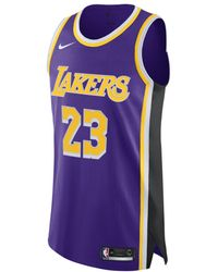 98cb4add3ab5 Nike - Lebron James Statement Edition Authentic (los Angeles Lakers) Mens  Nba Connected Jersey