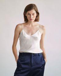 Nili Lotan - Isabella Silk Cami Top - Lyst