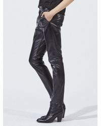 Nili Lotan - Leather East Hampton Pant - Lyst