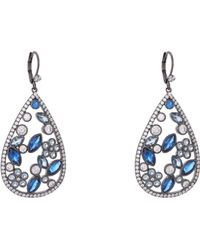 Nina - Matalin Earring-sapphire Ombre - Lyst