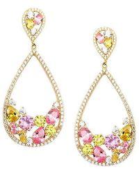 Nina - Arezzo Earring-gold - Lyst
