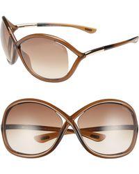 Tom Ford - 'whitney' 64mm Open Side Sunglasses - Dark Brown - Lyst