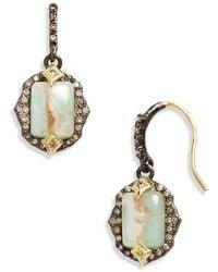 Armenta New World Eternity Hoop Drop Earrings with Diamonds DhbTth