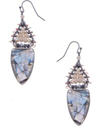 Nakamol - Labradorite Drop Earrings - Lyst