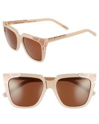 Pared Eyewear - Charlie & The Angels 54mm Sunglasses - Blush/ Rose Gold/ Peach - Lyst