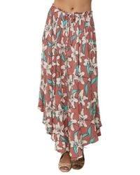 O'neill Sportswear - Kalani Print Skirt - Lyst