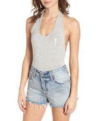 Obey - Luna Stripe Bodysuit - Lyst