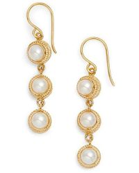 Anna Beck - Triple Pearl Drop Earrings - Lyst