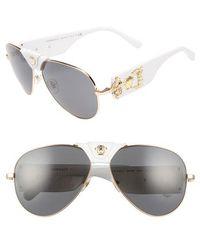 3138a724bf Lyst - Versace Signature Medusa Aviator Sunglasses in Black