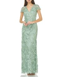 Carmen Marc Valvo - Petals Embellished Gown - Lyst