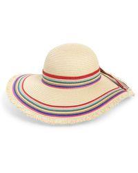 Sole Society - Rainbow Stripe Straw Hat - Lyst