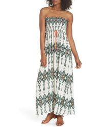 Heidi Klein - Smocked Cover-up Maxi Dress - Lyst