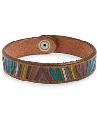 Orciani - Zebra Leather Bracelet - Lyst