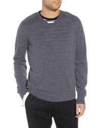 Vince - Regular Fit Elbow Patch Merino Wool Sweater - Lyst