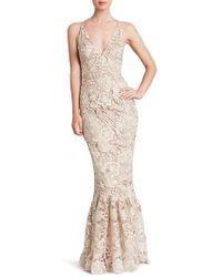 Dress the Population - Sophia Crochet Lace Mermaid Gown - Lyst
