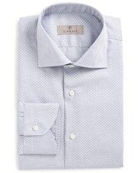 Canali - Regular Fit Geometric Dress Shirt - Lyst