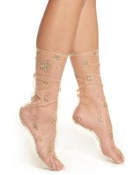 LIRIKA MATOSHI - Glittery Star Tulle Socks - Lyst