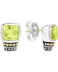Lagos | 'caviar Color' Semiprecious Stone Stud Earrings | Lyst