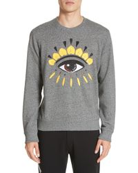ce10e89bf Lyst - Kenzo Embroidered Tiger Crewneck Sweatshirt in Gray for Men
