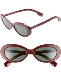 5295ec4bb0d2 Lyst - Burberry 55mm Retro Sunglasses - Bordeaux in Red
