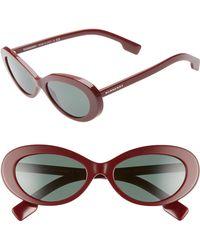 1eb1b7d9317 Lyst - Burberry 55mm Retro Sunglasses - Bordeaux in Red