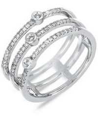 CARRIERE JEWELRY - Carriere Triple Row Diamond Stackable Ring (nordstrom Exclusive) - Lyst