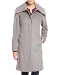 Cole Haan - Single Breasted Wool Blend Coat - Lyst