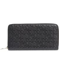 Loewe - Leather Zip Around Wallet - Lyst