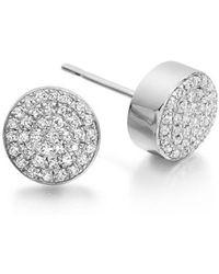 Monica Vinader | 'ava' Diamond Button Stud Earrings | Lyst