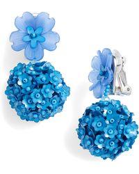 Sachin & Babi - Noir Fleur Drop Earrings - Lyst