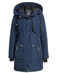 Ellen Tracy | Quilted Techno Parka | Lyst