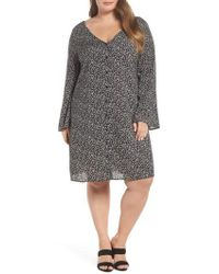 Glamorous | Double V-neck Print Shift Dress | Lyst