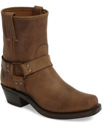 Frye - Harness Square Toe Engineer Boot - Lyst
