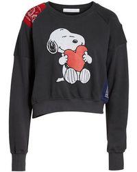 Daydreamer - Snoopy Bandana Panel Sweatshirt - Lyst