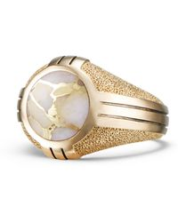 David Yurman - Southwest 18k Gold Signet Ring - Lyst