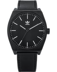 adidas - Process Leather Strap Watch - Lyst