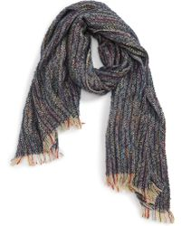 Sole Society - Speckled Knit Scarf - Lyst