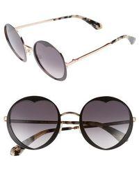 Kate Spade - Rosaria 53mm Heart Cutout Lens Sunglasses - Lyst