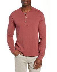 J.Crew - Slim Fit Garment Dyed Slub Cotton Henley - Lyst