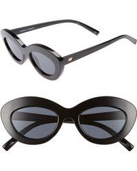 2f88d184fd2 Le Specs - Fluxus 48mm Cat Eye Sunglasses - Lyst