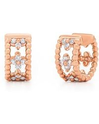 Kwiat - Diamond Hoop Earrings - Lyst