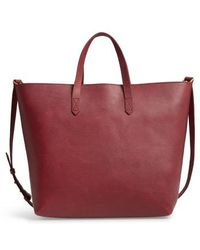 Madewell - Zip Top Transport Leather Carryall - Burgundy - Lyst