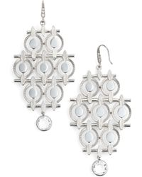 Badgley Mischka - Chandelier Drop Earrings - Lyst