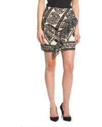 Elliatt - Soiree Ruffle Miniskirt - Lyst