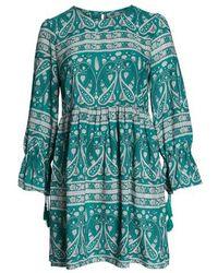 Glamorous - Paisley Smock Dress - Lyst