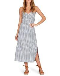 Amuse Society - White Sands Stripe Midi Dress - Lyst