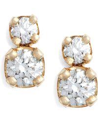 Zoe Chicco Double Diamond Stud Earrings